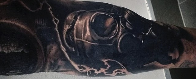 Gas Mask Tattoo Designs For Men
