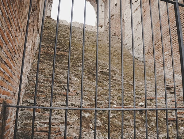 Gated Staircase Inside Of The Colosseum