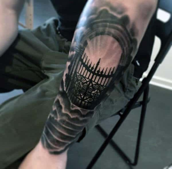 Gates Of Heaven Awesome Forearm Tattoos For Guys
