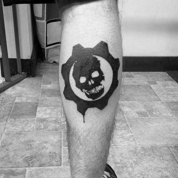 50 Gears Of War Tattoo Designs For Men Video Game Ink Ideas