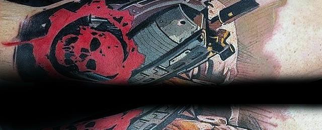 Gears Of War Tattoo Designs For Men