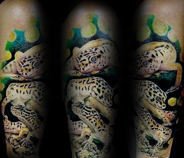 Gecko Male Tattoos