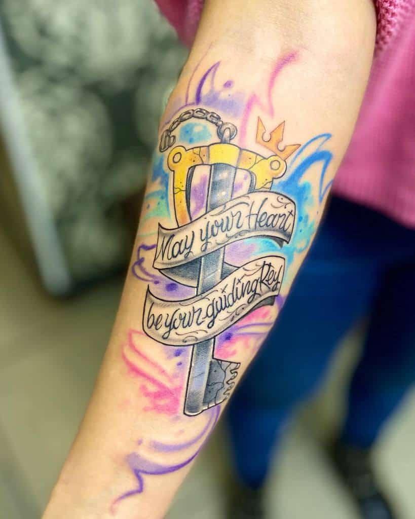 Geek Kingdom Heart Tattoo