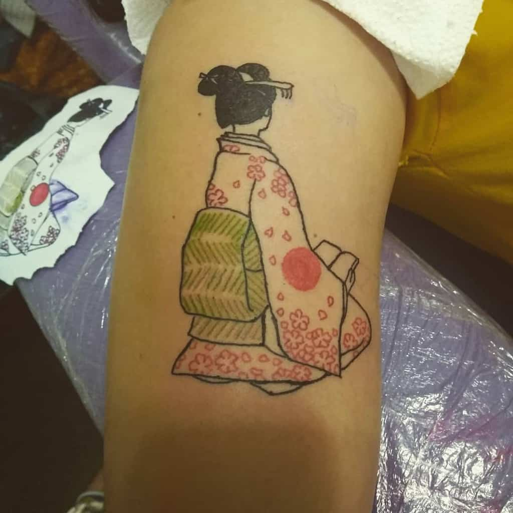 Geisha Line Tattoo