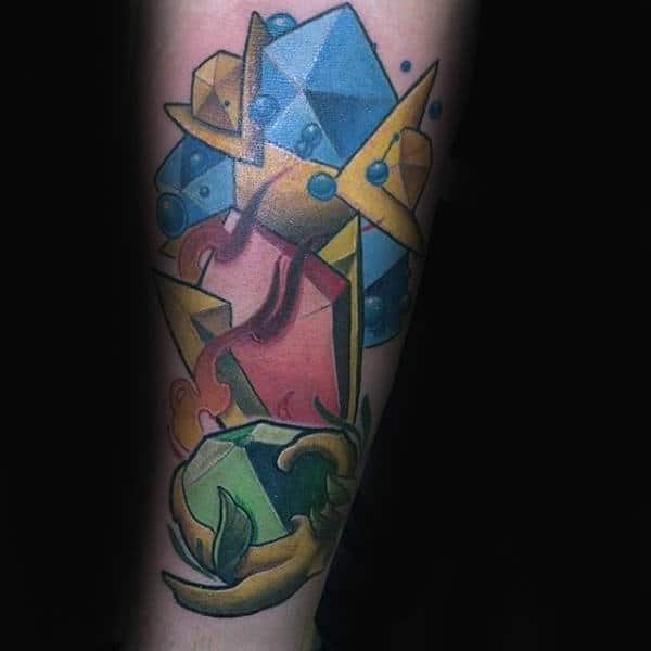 Gems Guys Zelda Video Game Tattoo