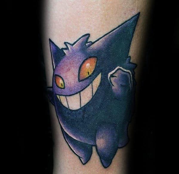 Gengar Mal Pokemon Small Arm Tattoos