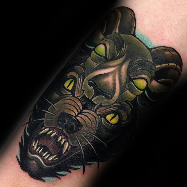 Gentleman With 3d Arm Wolf In Sheeps Clothing Tattoo