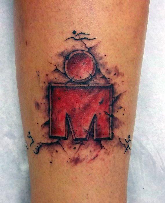 Gentleman With 3d Leg Ironman Tattoo