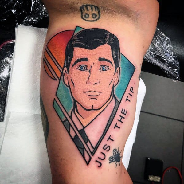 Gentleman With Archer Tattoo