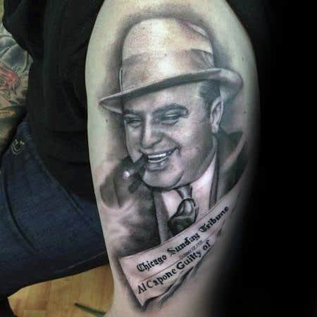 Gentleman With Arm Al Capone Tattoo
