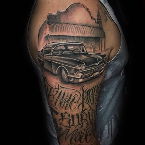 50 Cadillac Tattoos For Men Automotive Ink Design Ideas