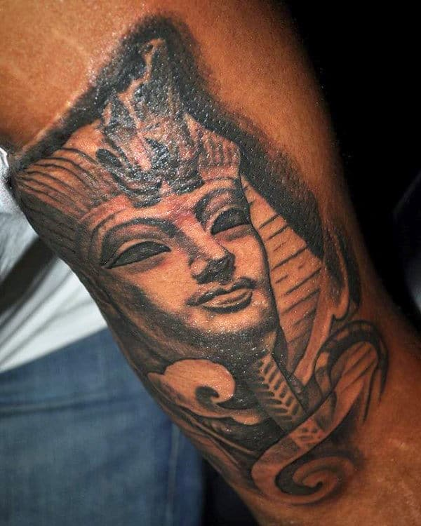 Gentleman With Arm Tattoo Of King Tut