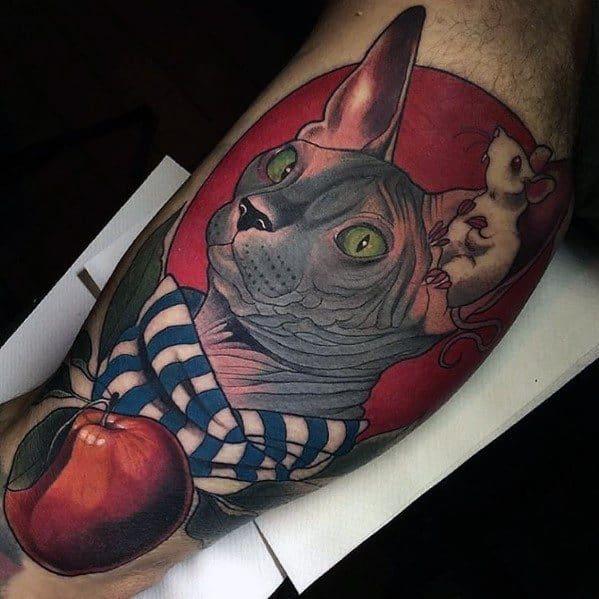 Gentleman With Cat Tattoo