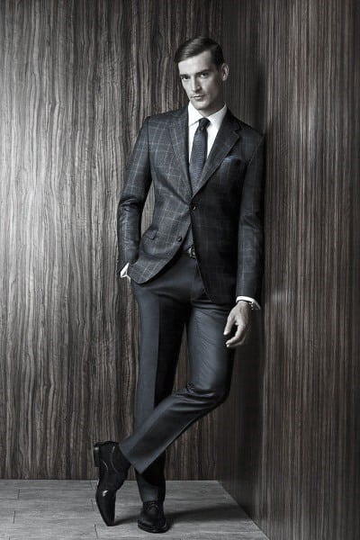 Gentleman With Charcoal Grey Suit Black Shoes Style