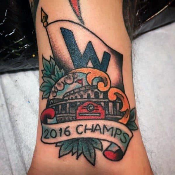 Gentleman With Chicago Cubs Wrist Tattoo
