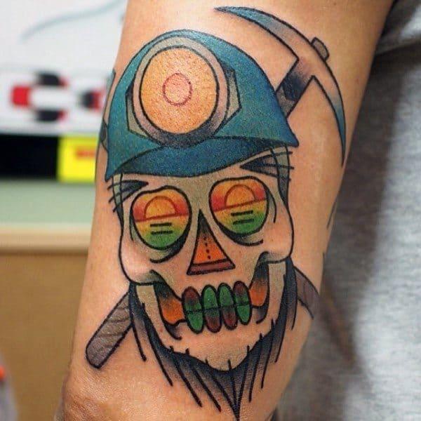 Gentleman With Coal Mining Tattoo