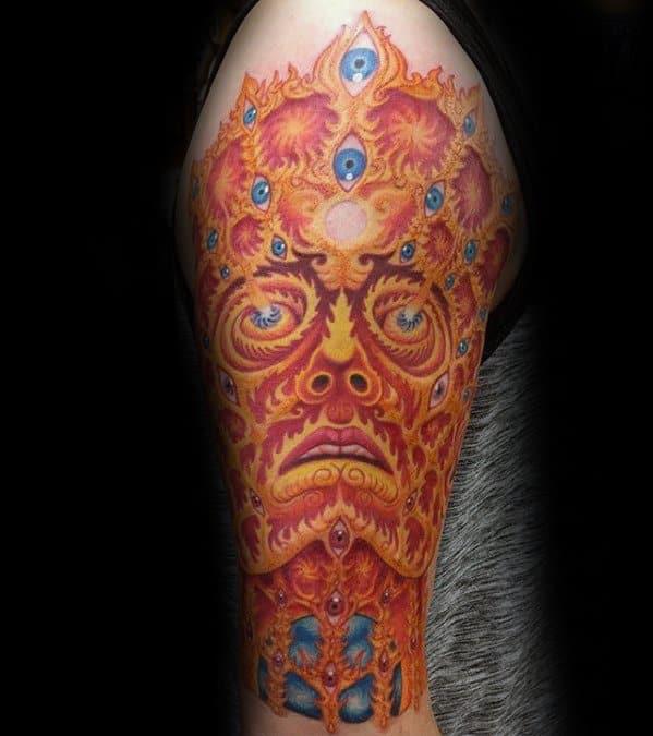 Gentleman With Consciousness Tattoo Half Sleeve