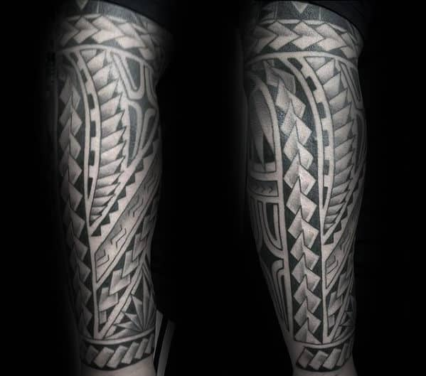 Gentleman With Cool Polynesian Black Ink Tribal Tattoo