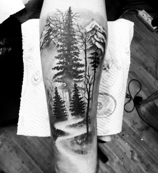Gentleman With Cool Tree Tattoo