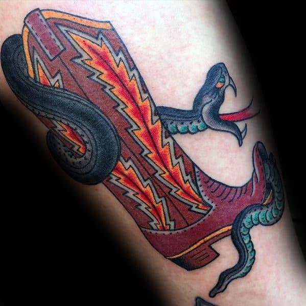 Gentleman With Cowboy Boot Tattoo