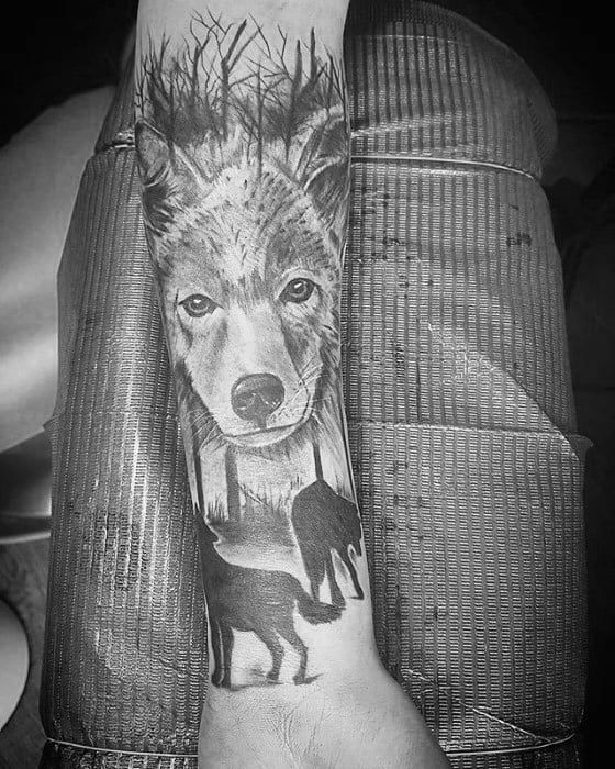 Gentleman With Coyote Tattoo