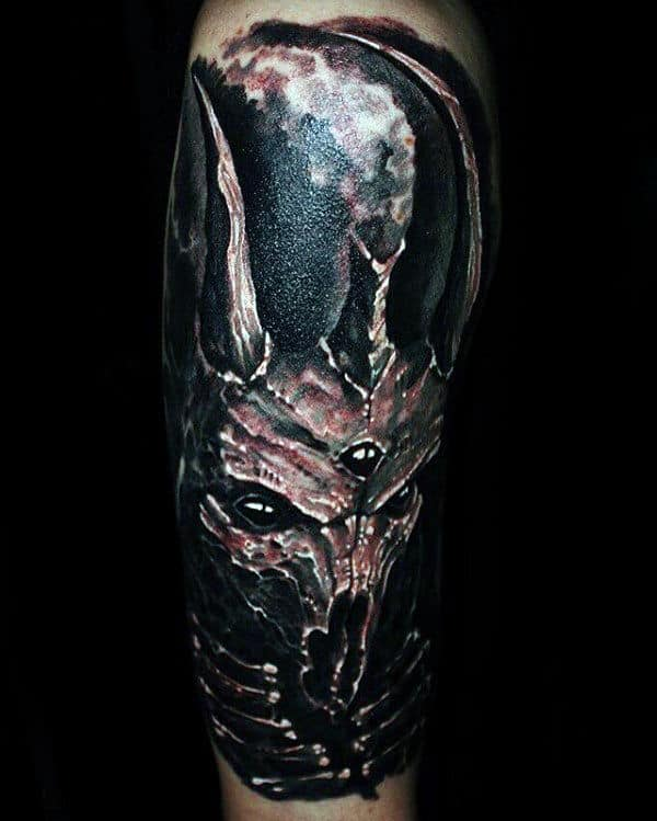 Dark Tattoo Sleeve Designs: 50 Baphomet Tattoo Designs For Men