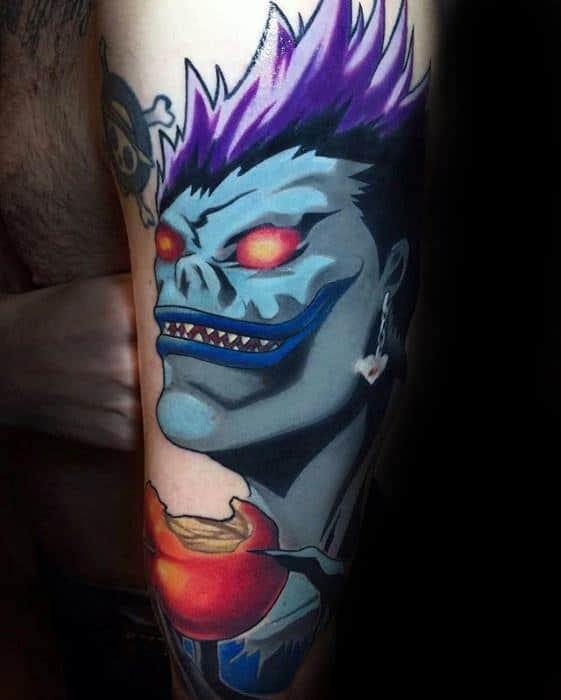 Gentleman With Death Note Tattoo On Arm