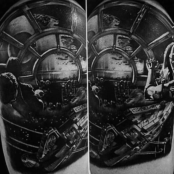 60 Death Star Tattoo Designs For Men