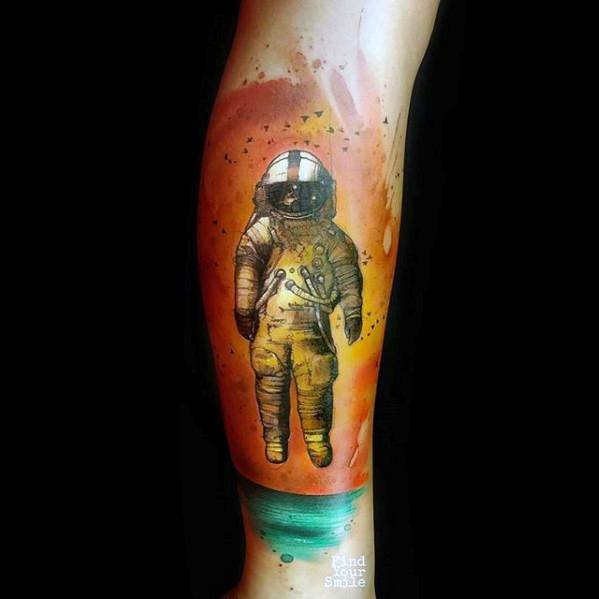brand new astronaut tattoo-#25