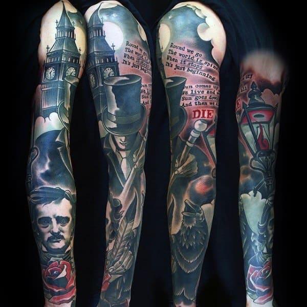 Gentleman With Edgar Allan Poe Tattoo