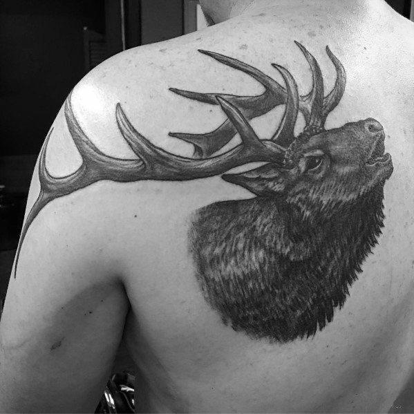 Gentleman With Elk Tattoo