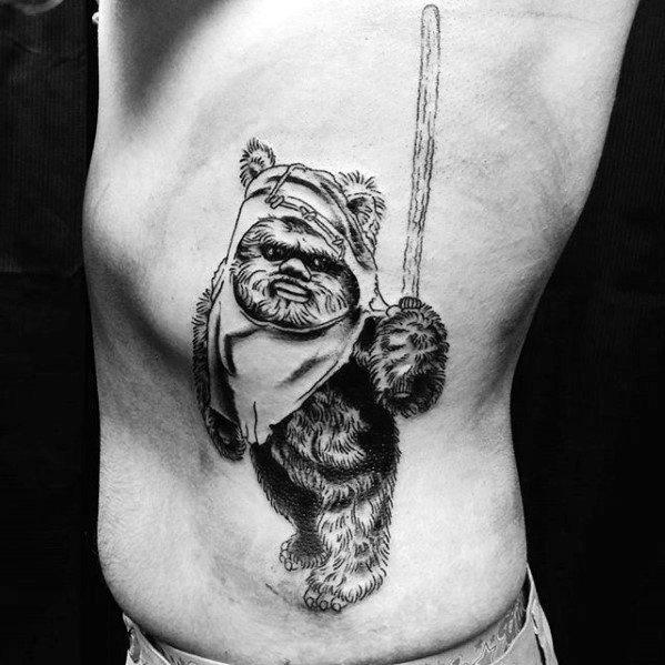 Gentleman With Ewok Tattoo
