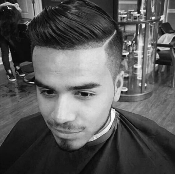 Gentleman With Fade Comb Over Hair Style