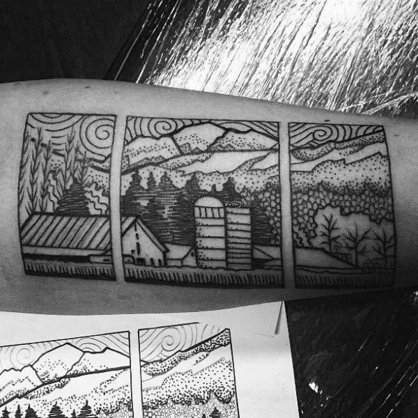 Gentleman With Farming Tattoo