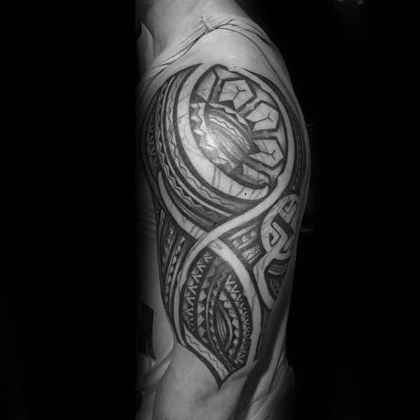Gentleman With Filipino Sun Tattoo
