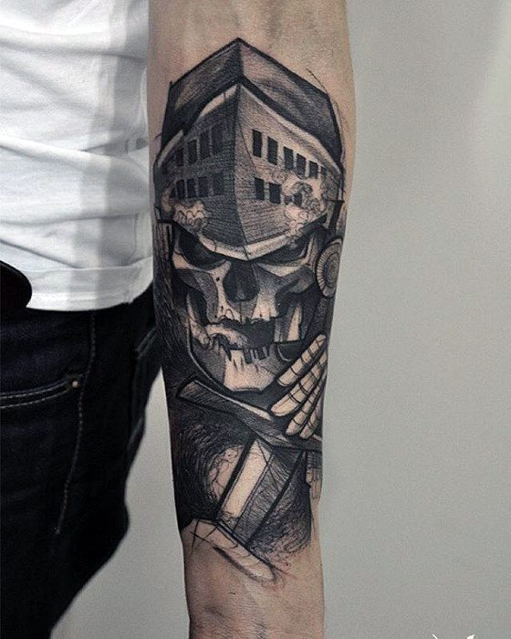 Gentleman With Forearm Gamer Tattoo