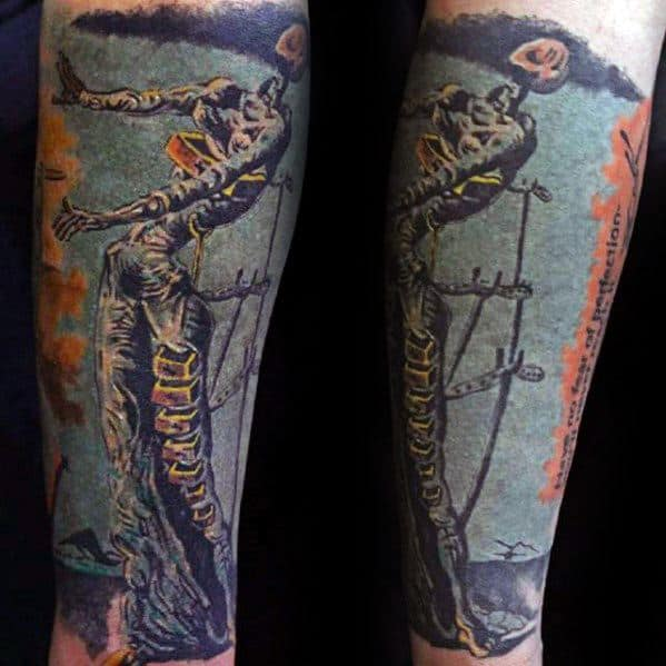 Gentleman With Forearm Sleeve 3d Salvador Dali Tattoo