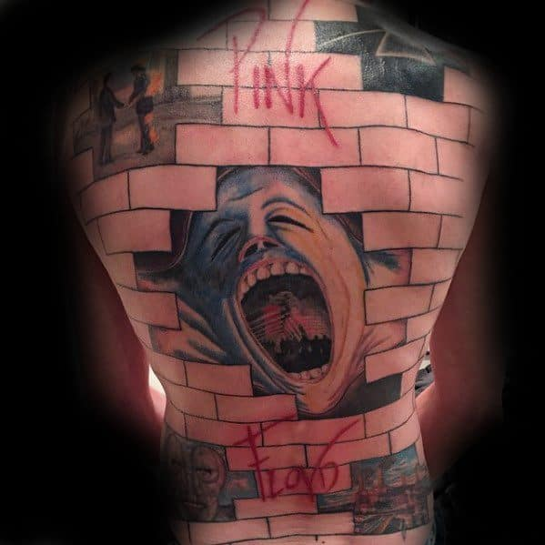 Gentleman With Full Back Pink Floyd Tattoo