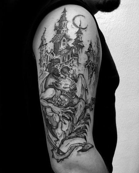 Gentleman With Gothic Tattoo