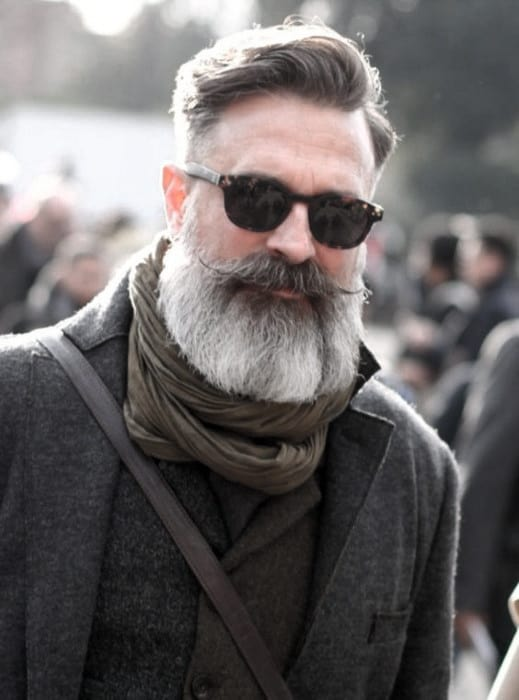Gentleman With Grey Beard Design Style