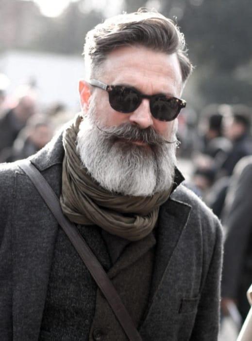 Gentleman With Grey Beard Design Style