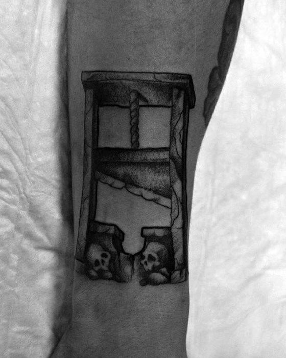 Gentleman With Guillotine Tattoo