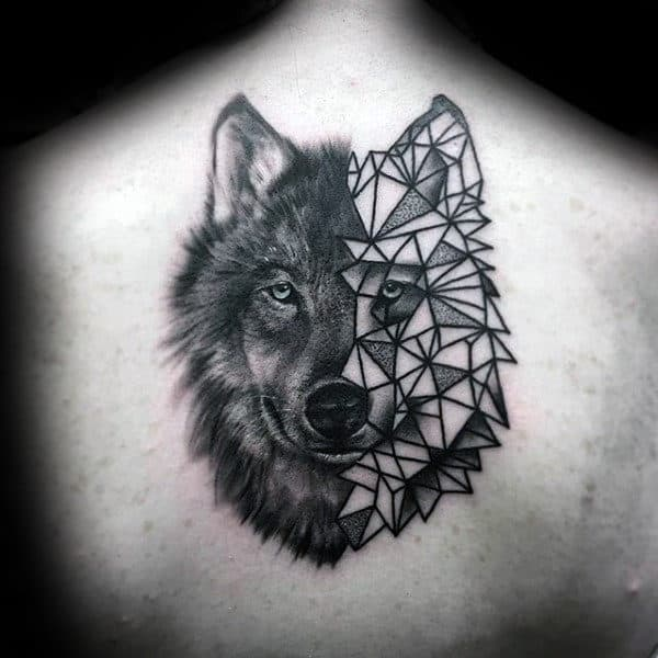 gentleman-with-half-geometric-wolf-back-tattoo