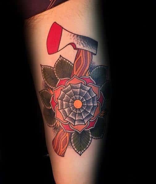 Gentleman With Hatchet Tattoo