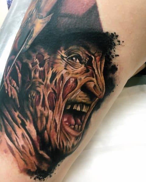 Gentleman With Horror Movie Tattoo