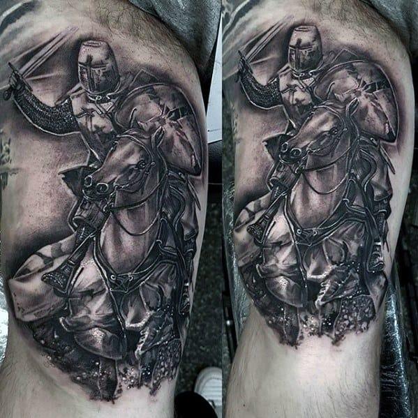 Gentleman With Horse Tattoo