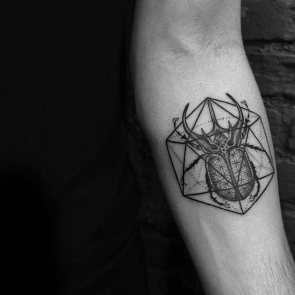 Gentleman With Icosahedron Tattoo