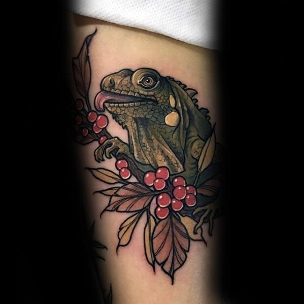Gentleman With Iguana Tattoo
