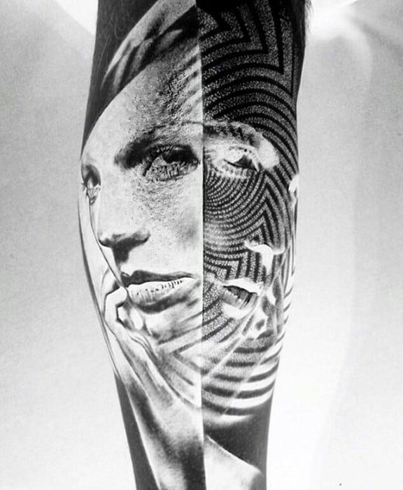 20 Inverted Tattoo Designs For Men – Opposite Ink Ideas