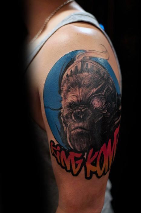 Gentleman With King Kong Tattoo